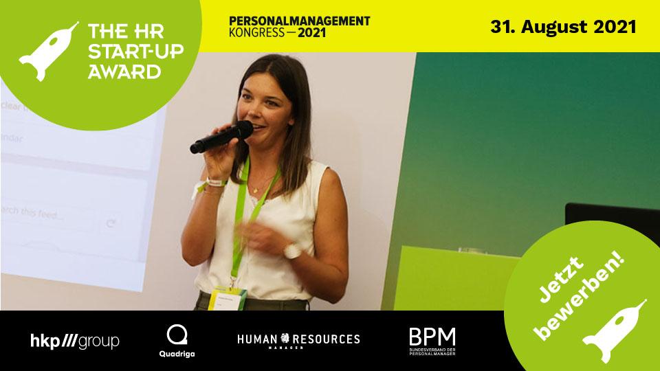 Kristina Schneider, Digital Adoption Consultant bei Userlane, bei ihrem HR Start-up Award Pitch 2020, den sie gewann.